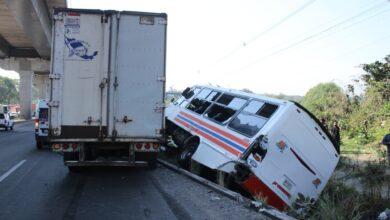 heridos, autopista México-Puebla, accidente, choque, falla mecánica, código rojo
