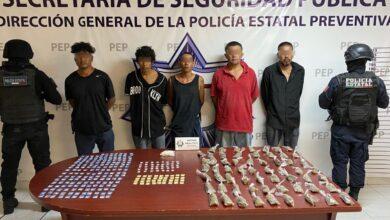 los rojos, detenidos, seis, integrantes, secuestro, extorsión, violencia, atlixco, antecedentes penales, código rojo