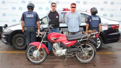 gota a gota, esquema, préstamo, amenazas, amedrentar, hombre, motoccicleta, policía municipal, captura, código rojo