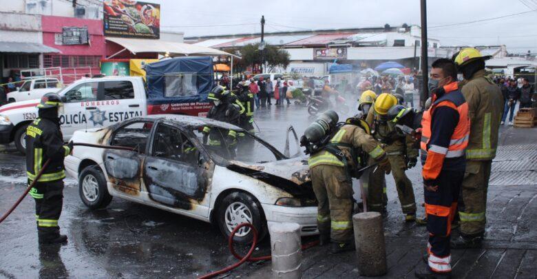 central de abastos, incendio, vehículo, movilización, sin lesionados, código rojo