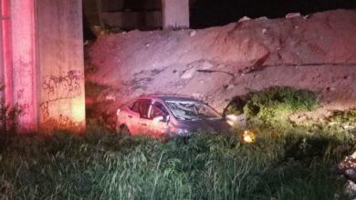 vehículo, caída, cinco, metros, autopista méxico-puebla, fuga, conductor, código rojo