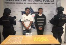 san josé xilotzingo, narcomenudistas, detenidos, cristal, policía estatal, código rojo