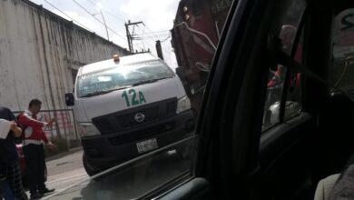tren, choque, van, transporte público, san pablo xochimehuacan, código rojo