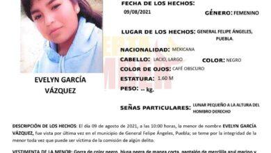 FGE, Alerta Amber, General Felipe Ángeles, lunar, Cabello lacio,