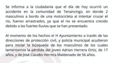 chignahuapan, muerte, dos, hombres, cauce, río, arrastrados, vecinos, familiares, hallazgo, protección civil, policía municipal, código rojo
