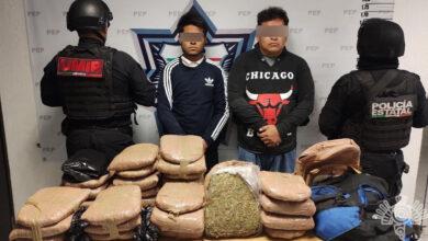 posesión, marihuana, 30 kilogramo, ssp, tres cruces, policía estatal, la güera, código rojo