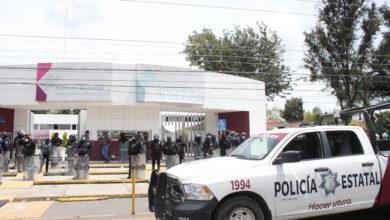 SEP, instalaciones, profesores, Granaderos, supervisor, zona, Policía Estatal, Tepeaca, empujones, golpes