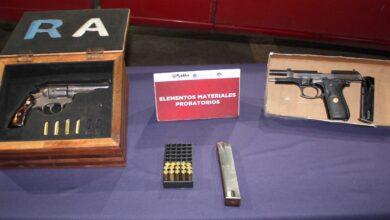 cuatro, hombres, detenidos, arma de fuego, detonaciones, cartuchos, ssc, código rojo