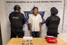 el ferch, detenido, narcomenudeo, posesión, drogas, policía estatal, unidad habitacional el carmen, código rojo