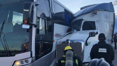 Choque, tráiler, autobús, muerto, heridos, Puebla-Orizaba, Guardia Nacional de Carreteras, Capufe, fallas mecánicas