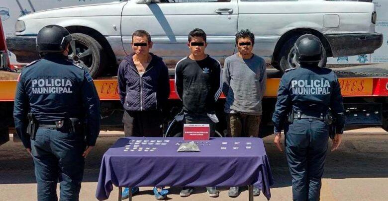 ssc, desarticulación, robo de vehículos, banda delictiva, tres hombres, captura, droga, posesión, código rojo